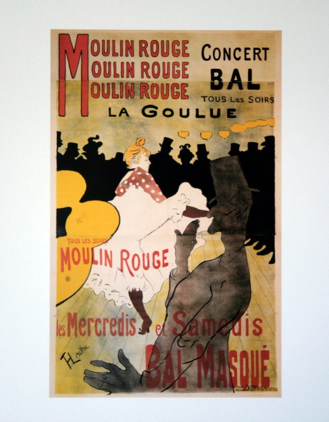 """Cuadro de texto: """"Moulin Rouge, La Goulue"""" (1891) de Henri Toulouse Lautrec"""